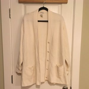 Yarnworks White Open Cardigan Size 2XL